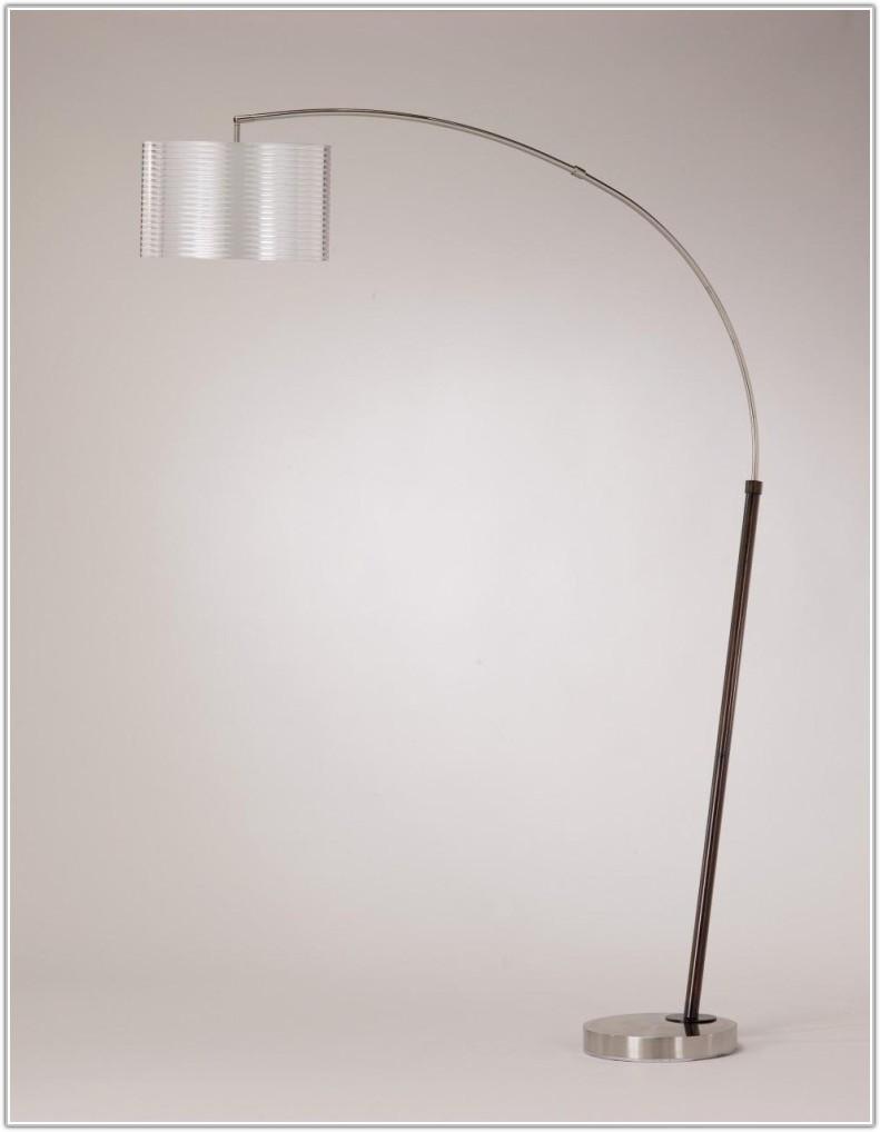 Rustic Wood Arc Floor Lamp