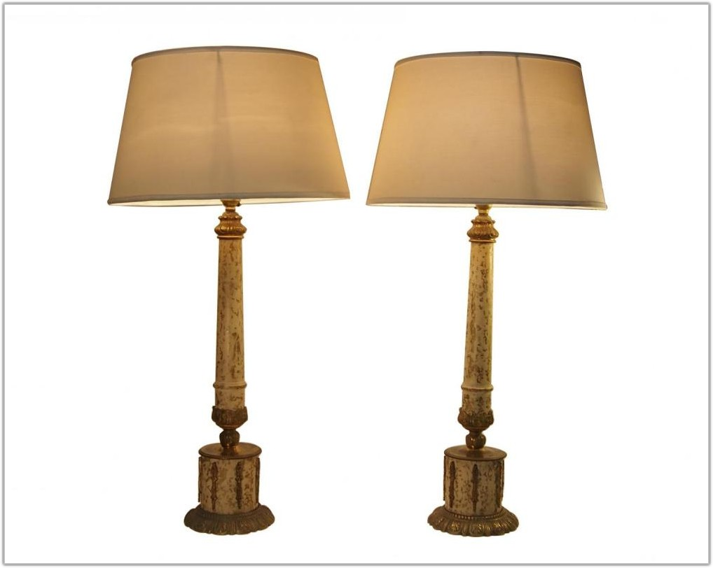 Set Of 2 Bronze Table Lamps