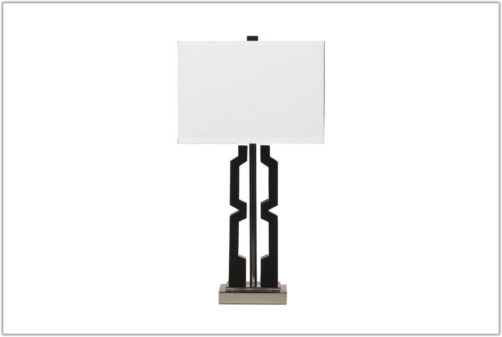 Silver And Black Table Lamps