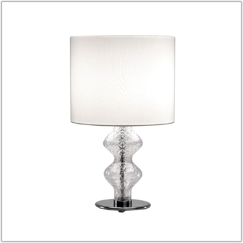 Small Clear Glass Table Lamp