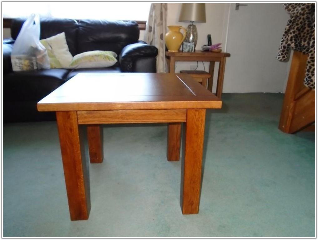 Small Dark Oak Lamp Table