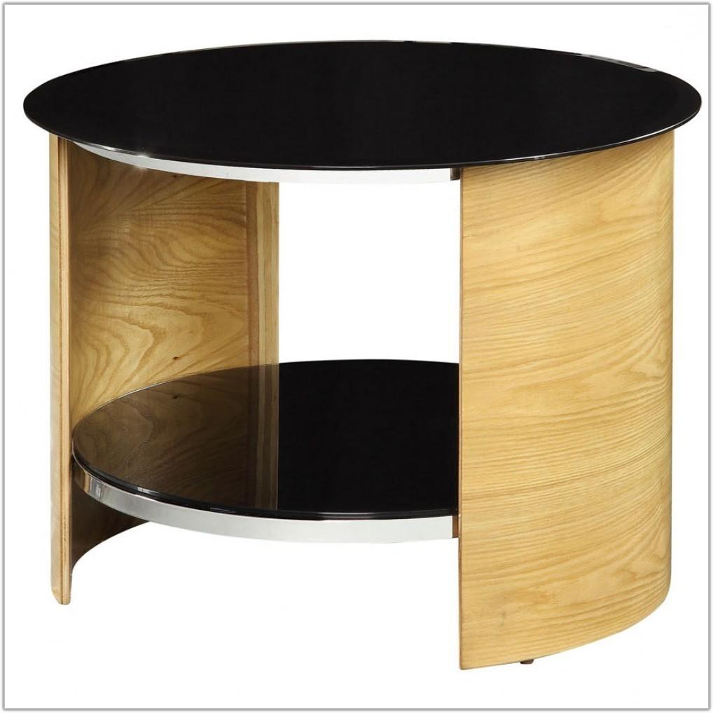 Small Light Oak Lamp Table