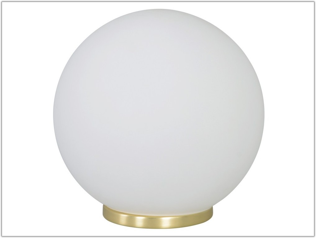 Small Round White Lamp Table