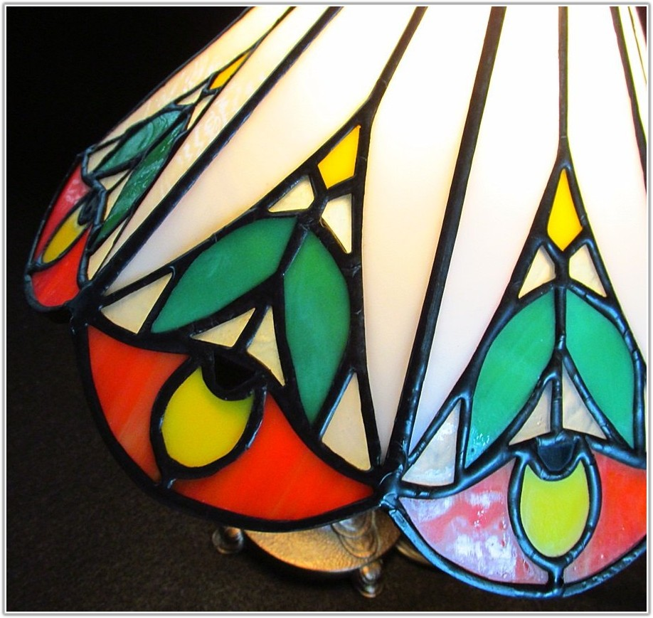 Small Stained Glass Lamp Base