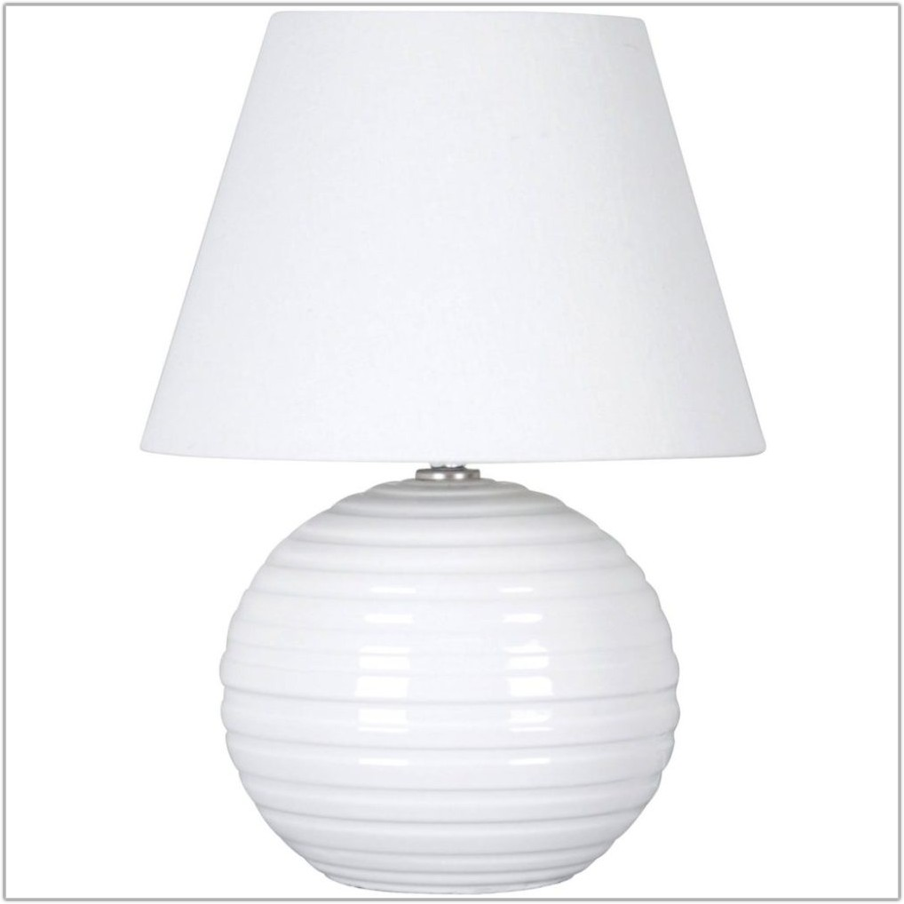 Small White Ceramic Table Lamp