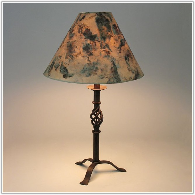 Small Wrought Iron Table Lamp