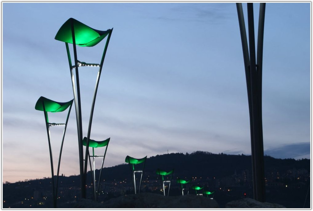 Solar Lamp Post Light Patio