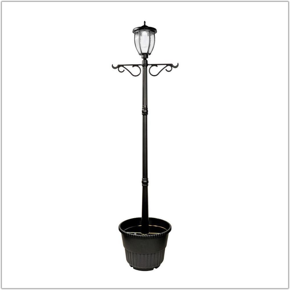 Solar Led Lamp Post With Planter