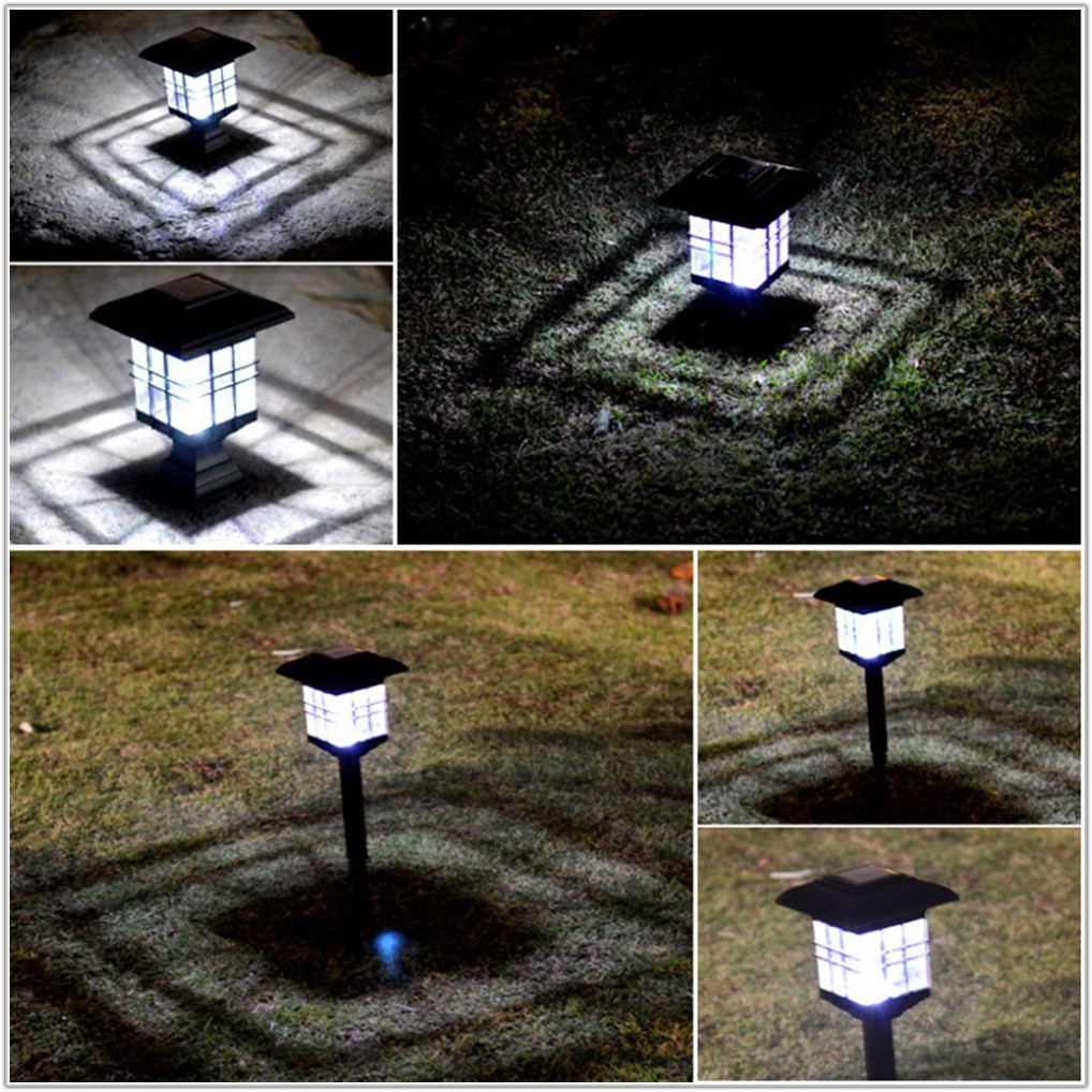 Solar Powered Outdoor Lamp Post