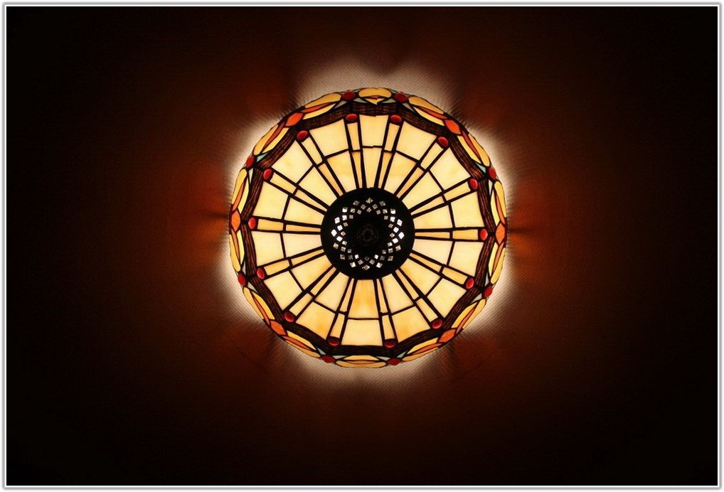 Stained Glass Ceiling Light Panels