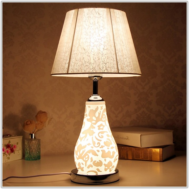 Table Lamp With Nightlight Base