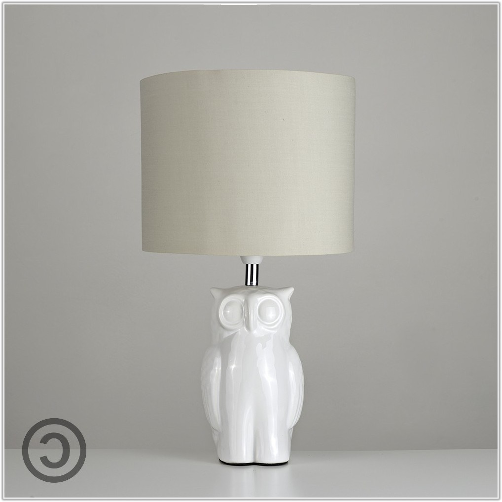 Tall White Table Lamp Base