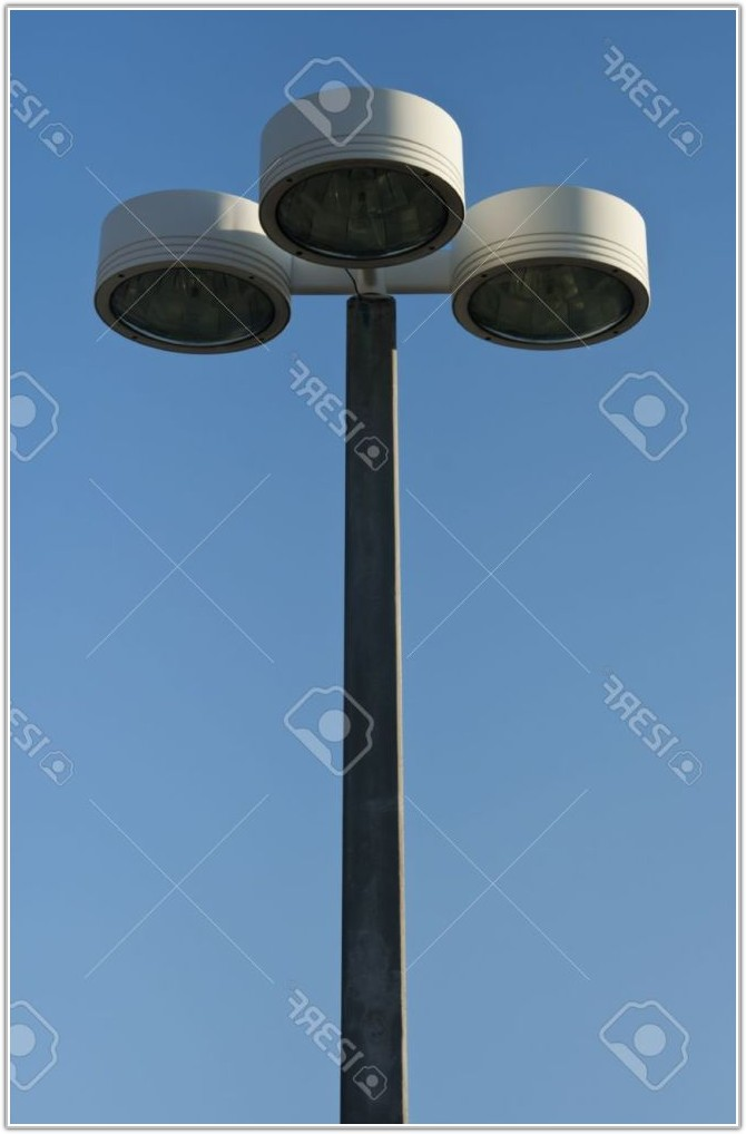Three Light Outdoor Lamp Post