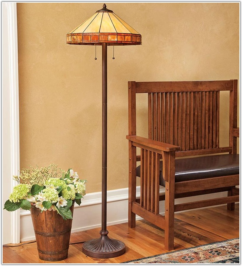 Tiffany Mission Style Floor Lamps