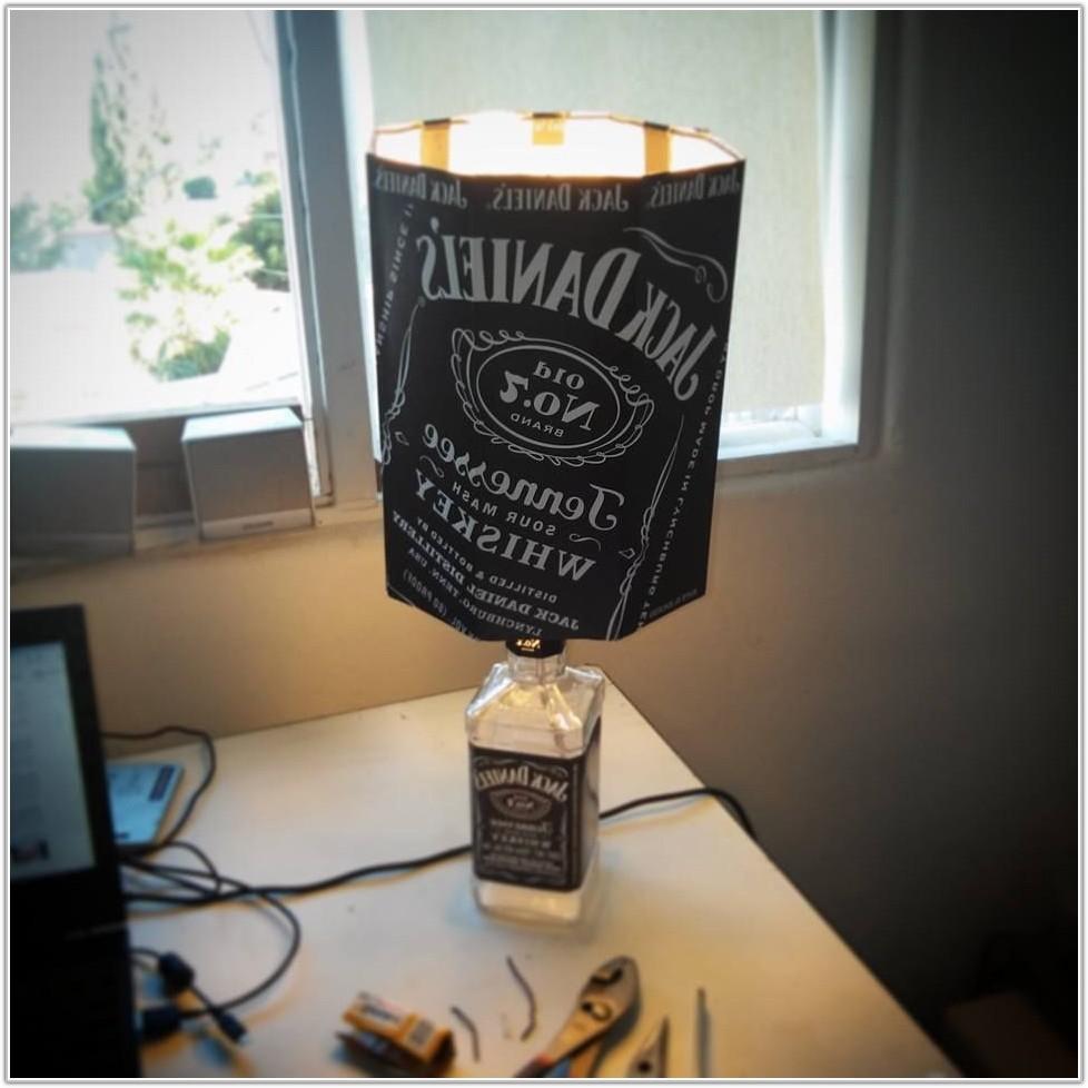 Turn Jack Daniels Bottle Into Lamp