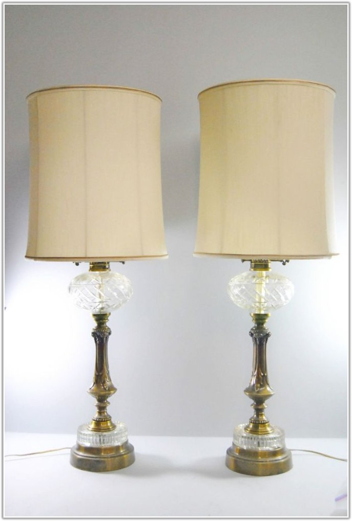 Vintage Cut Glass Table Lamps