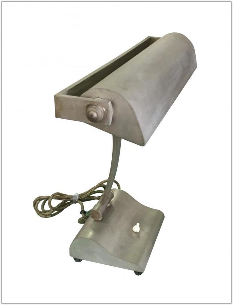Vintage Industrial Brass Table Lamp