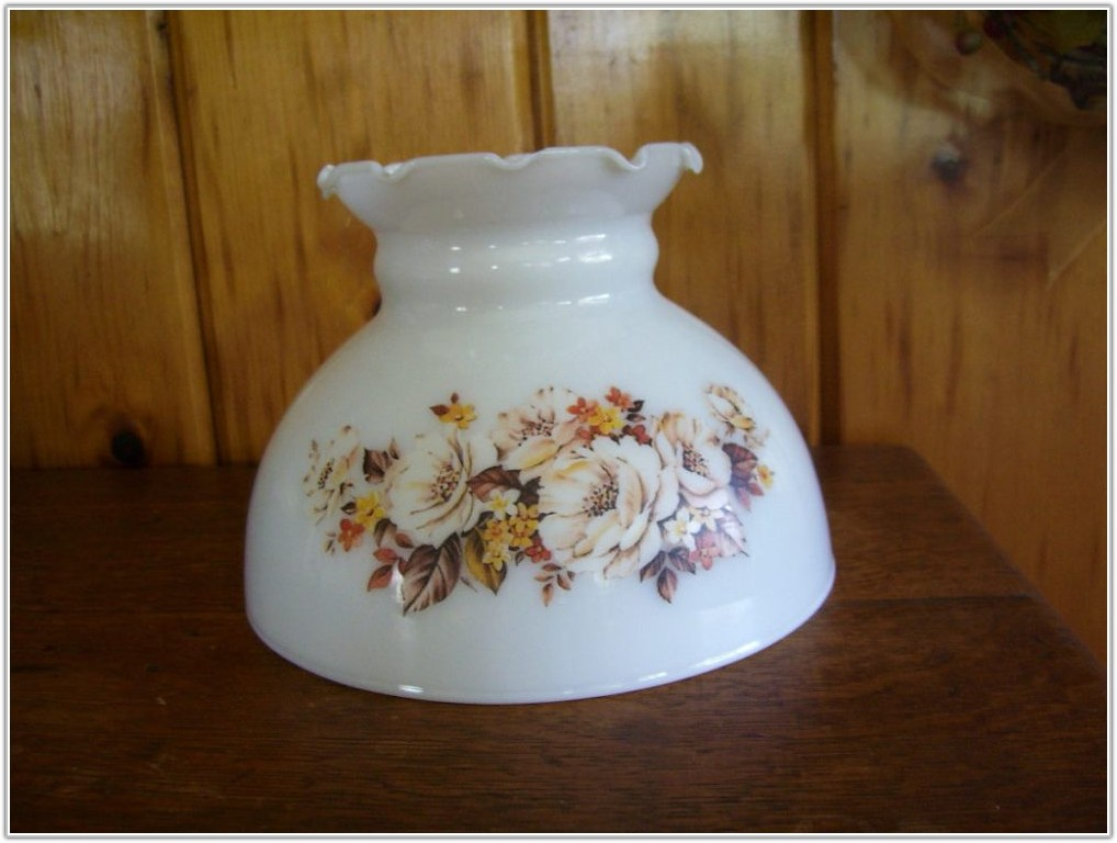 Vintage Milk Glass Lamp Shades