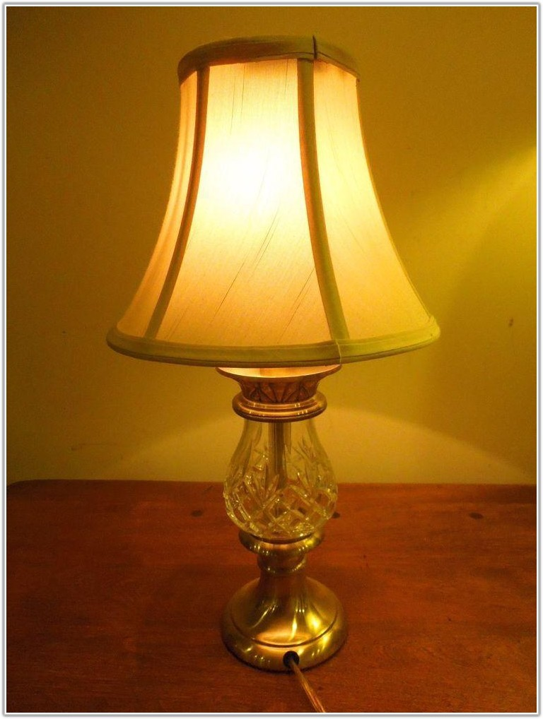 Vintage Waterford Crystal Table Lamps