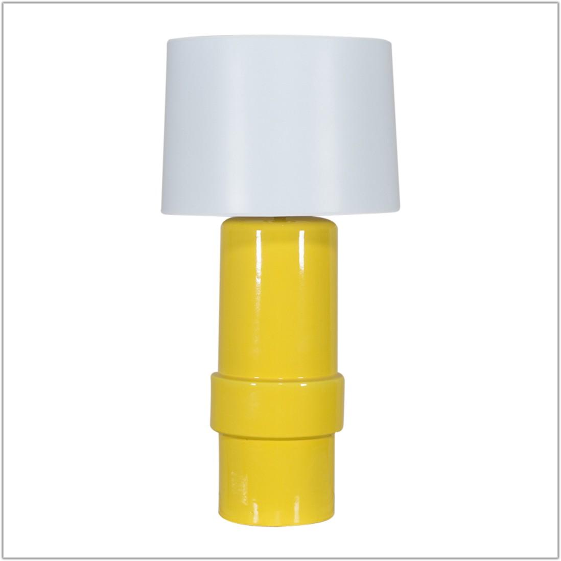 Vintage Yellow Ceramic Table Lamp