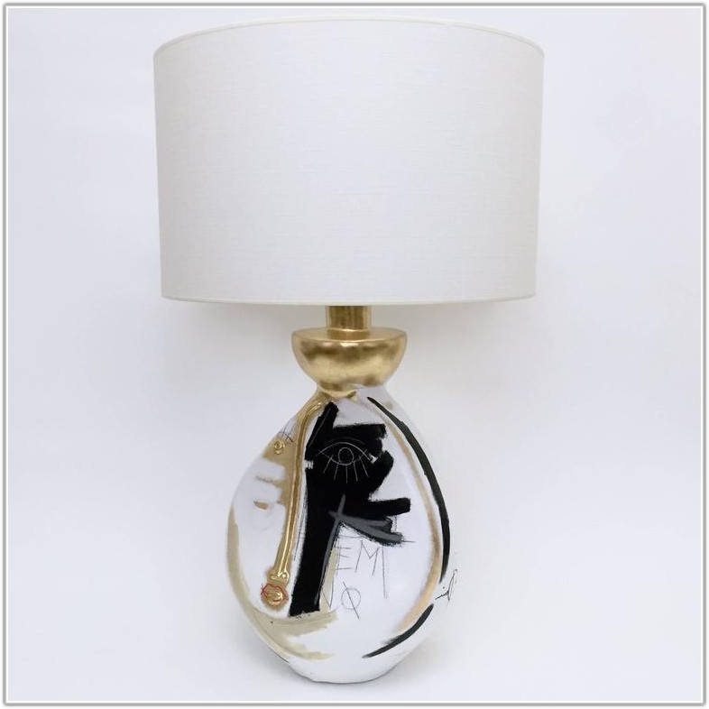 White And Gold Lamp Base