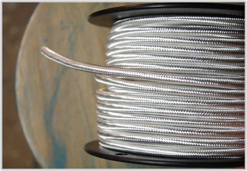 White Cloth Covered Lamp Wire