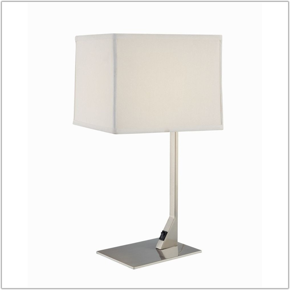 White Rectangular Table Lamp Shade