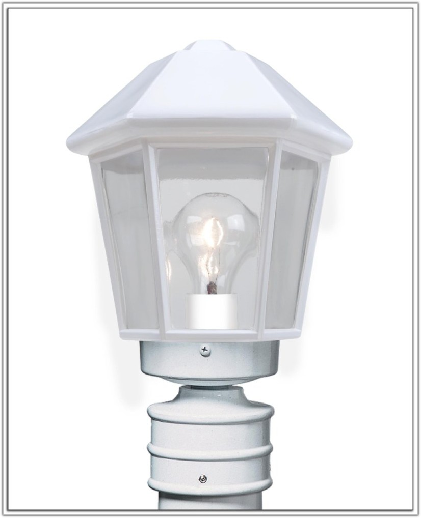 White Solar Lamp Post Light