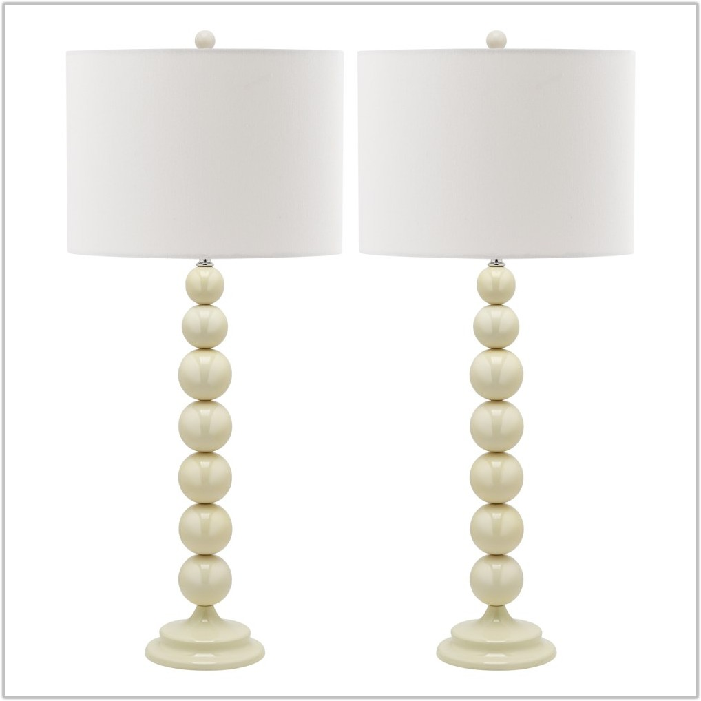White Table Lamp Set Of 2