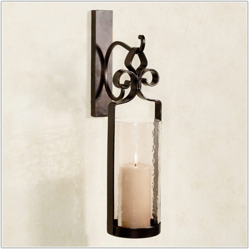 Wrought Iron Wall Sconces Flowers