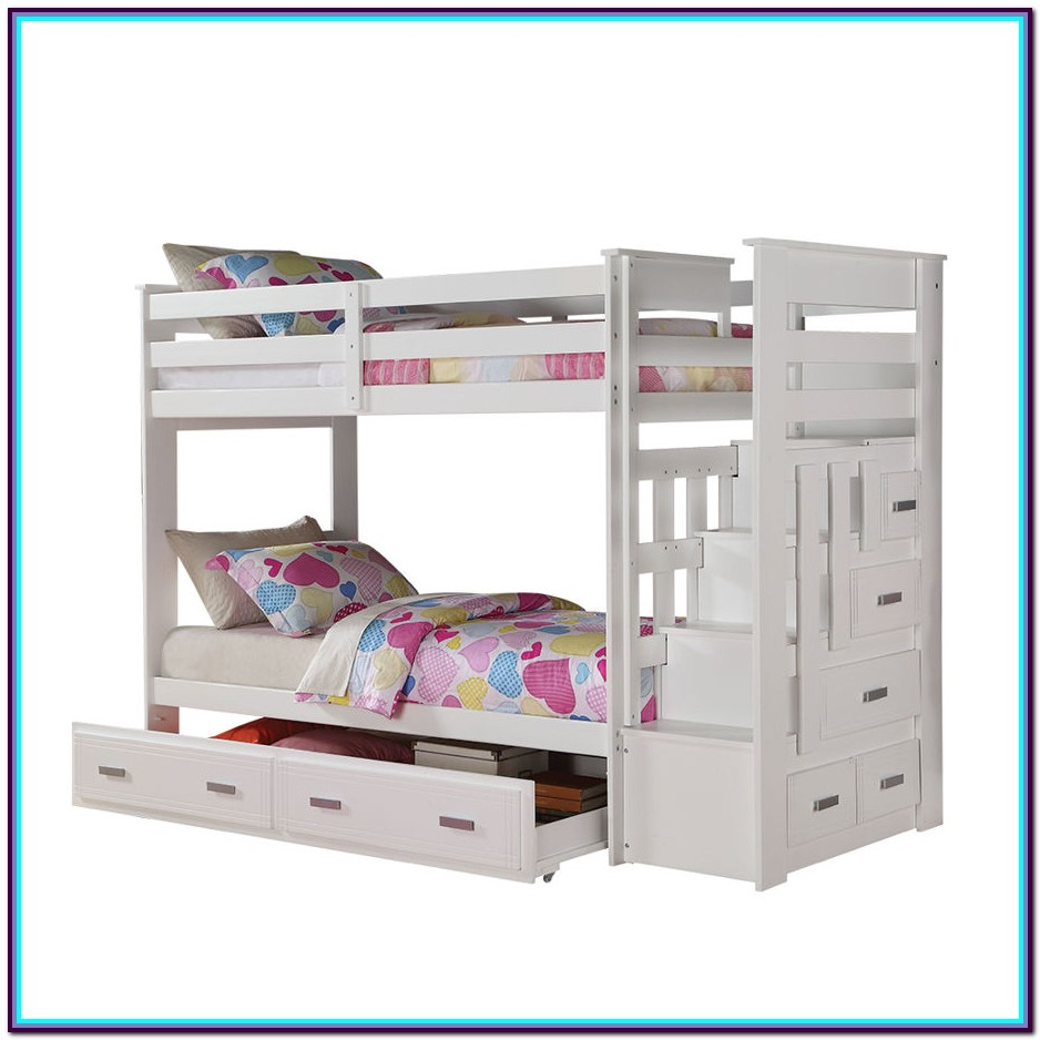 Allentown Twin Over Twin Bunk Bed White