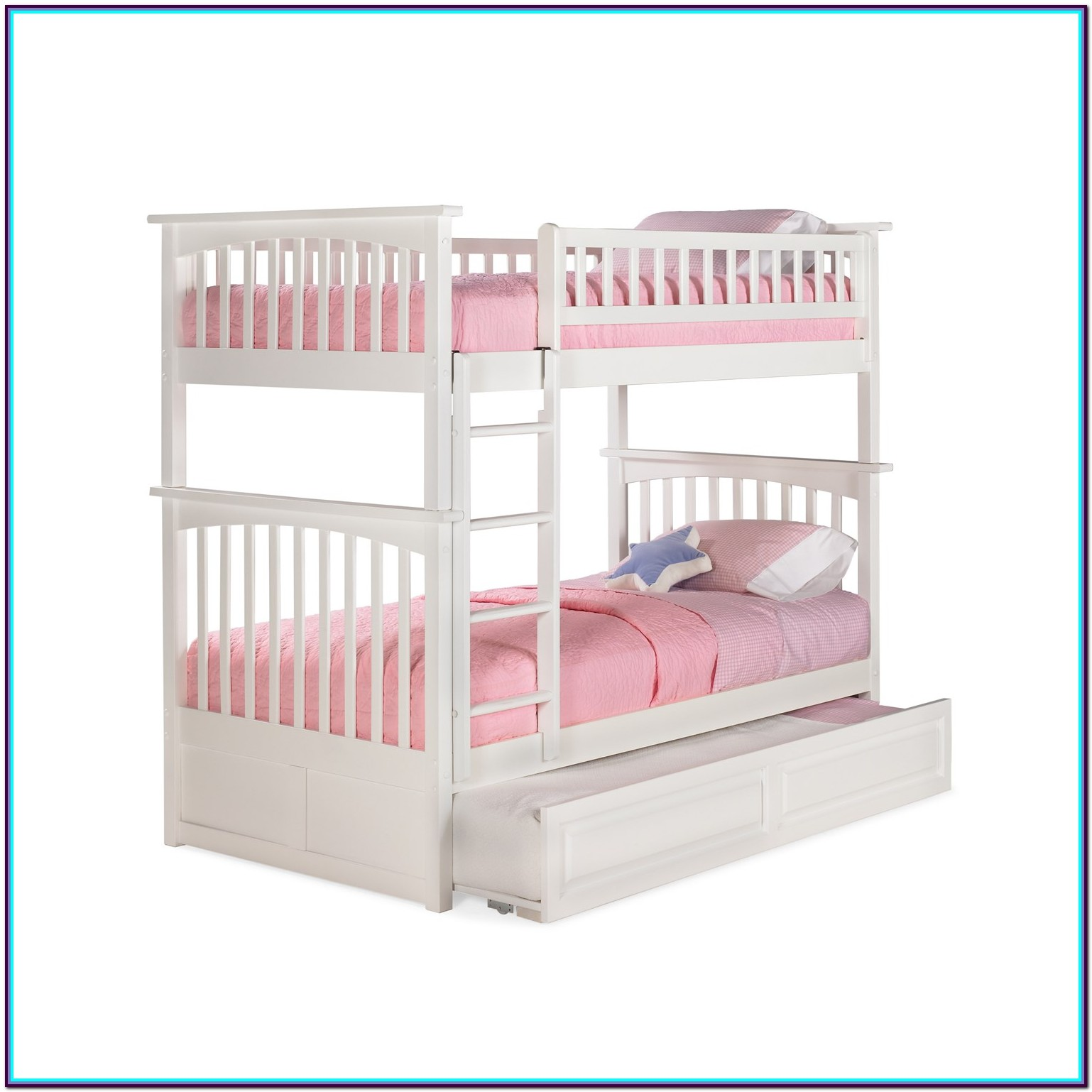 Angel Line Creston Twin Over Twin Bunk Bed White
