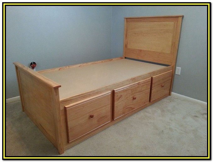 Bed Frame With Drawers Plans Free