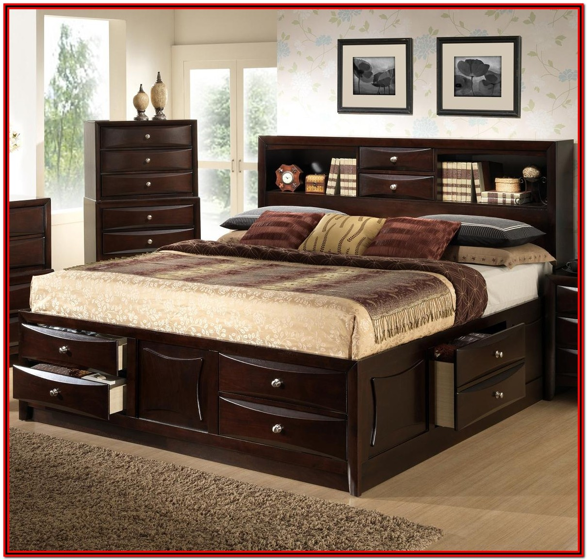 Bed Frame With Headboard And Storage