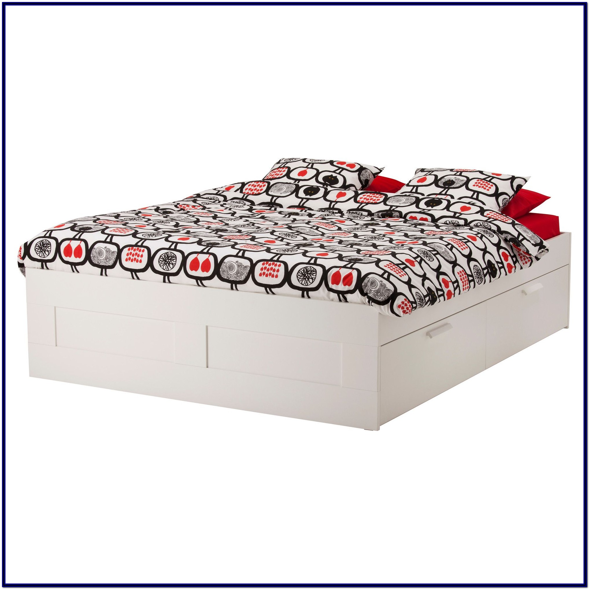 Bed Frame With Storage White