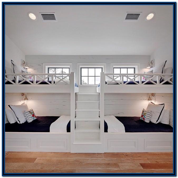 Built In Bunk Beds With Stairs Plans