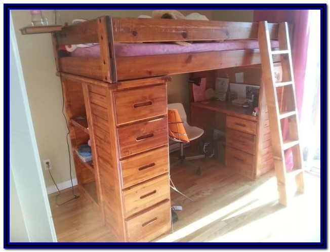 Bunk Bed With Built In Desk And Drawers