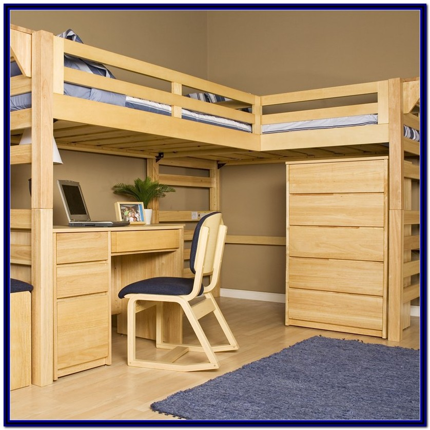 Bunk Bed With Desk Plans Free