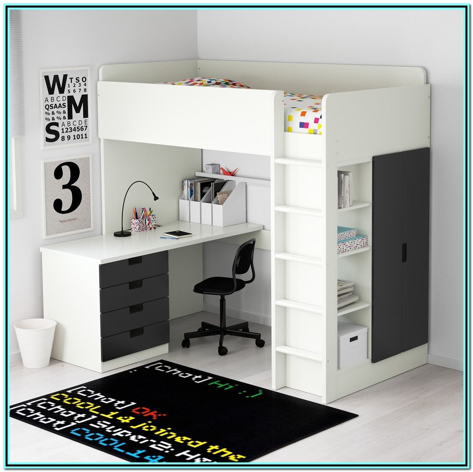 Bunk Bed With Desk Underneath Ikea