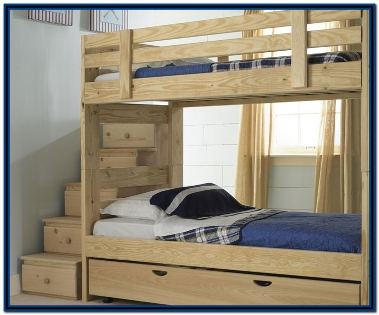 Bunk Bed With Stairs And Drawers Twin Over Full