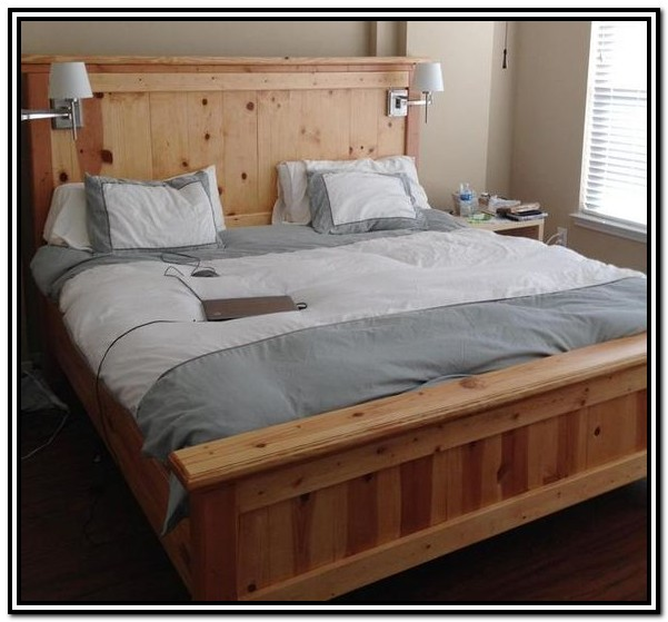 California King Wood Bed Frame Plans