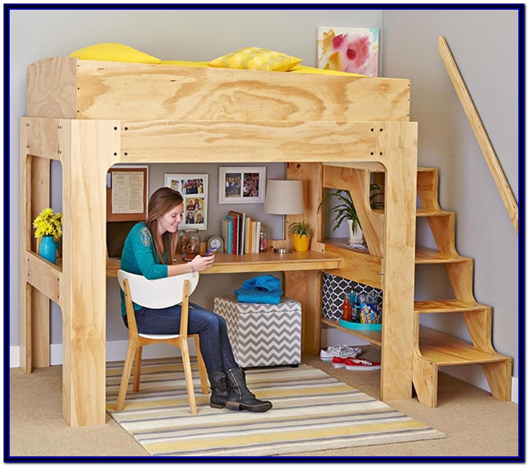 Diy Bunk Bed With Desk Plans Free