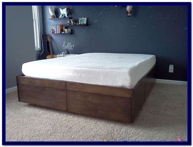 Diy Simple Bed Frame With Storage