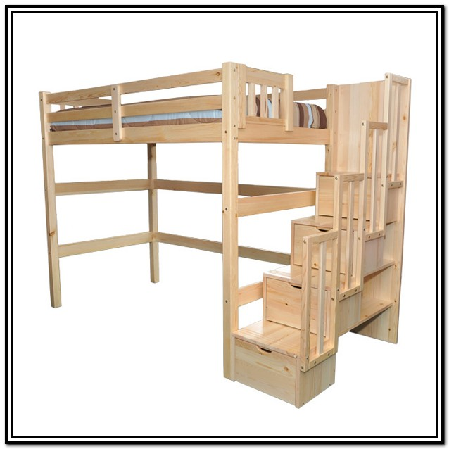 Double Bunk Bed With Stairs Uk