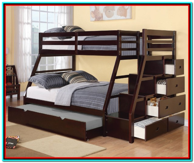 Double Bunk Beds With Storage And Stairs