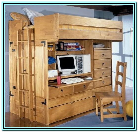 Double Loft Bed With Desk Plans
