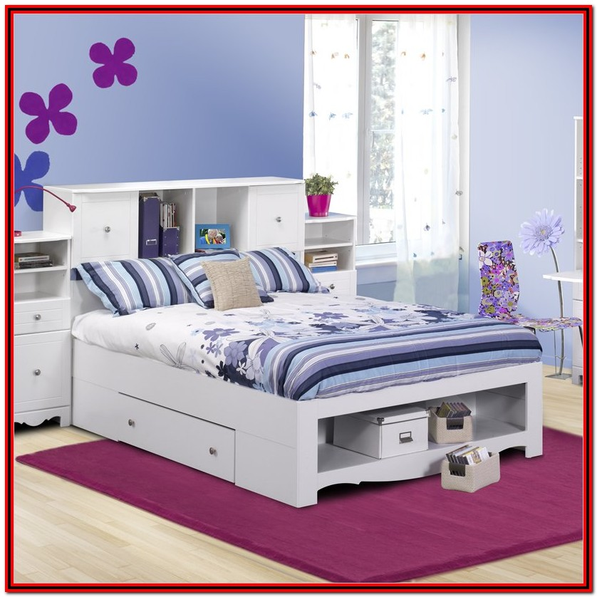 Full Bed Frame With Headboard And Storage