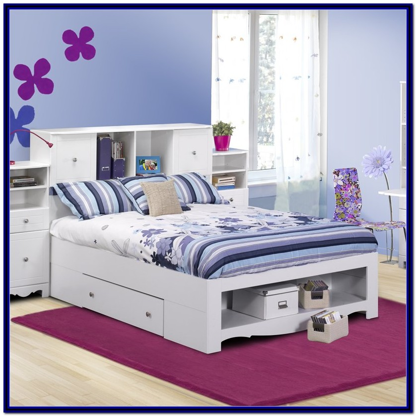 Full Bed Frame With Storage No Headboard