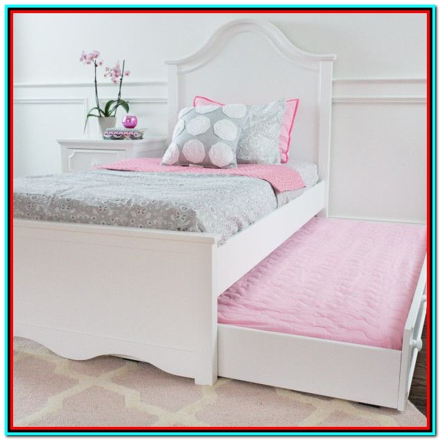 Full Bed Frame With Trundle White