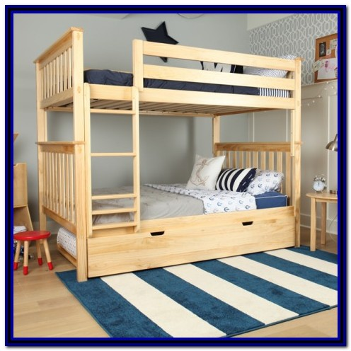 Full Over Full Bunk Beds Solid Wood